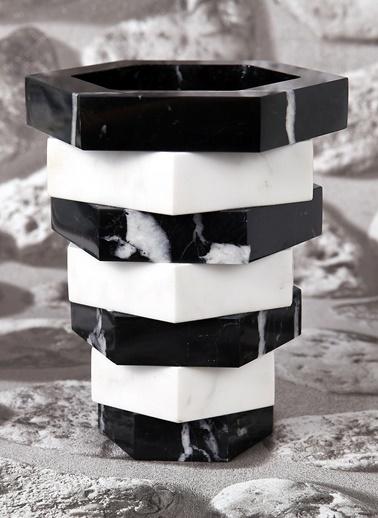 El Yapımı Mermer Altıgen Saksı-3Wdesign